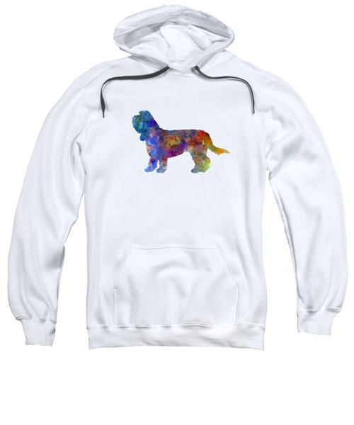Grand Basset Griffon Vendeen In Watercolor Sweatshirt by Pablo Romero