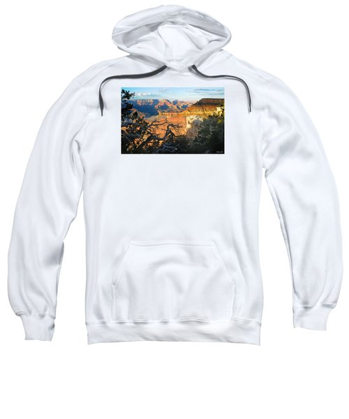 Grand Canyon South Rim - Sunset Through Trees Sweatshirt