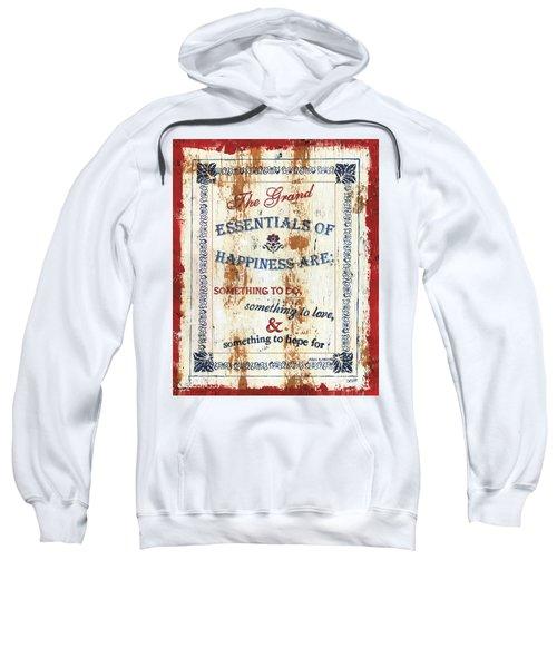 Grand Essentials Of Happiness Sweatshirt