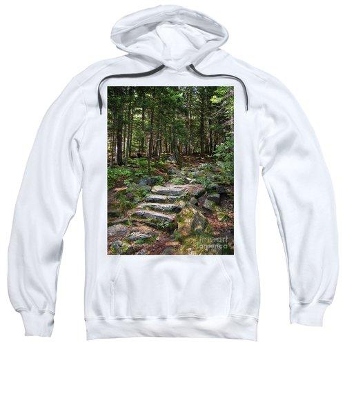 Granite Steps, Camden Hills State Park, Camden, Maine -43933 Sweatshirt