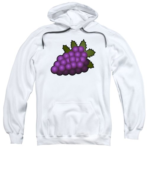 Grapes Fruit Outlined Sweatshirt by Miroslav Nemecek