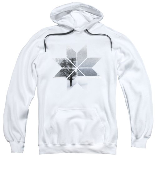 Graphic Art Snowflake Lonely Tree Sweatshirt
