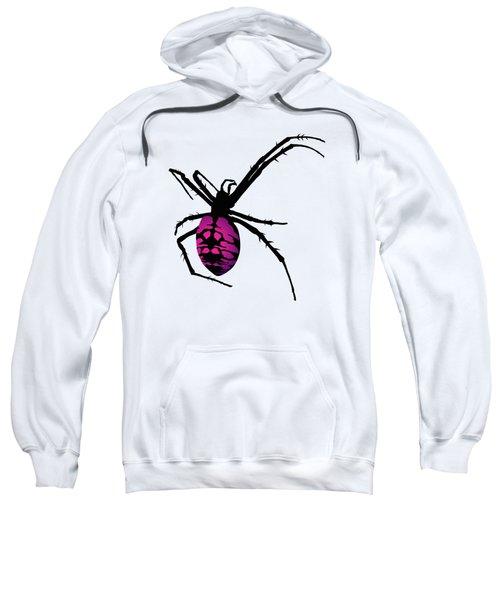 Graphic Spider Black And Purple Sweatshirt