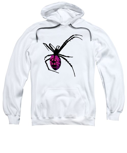 Graphic Spider Black And Purple Sweatshirt
