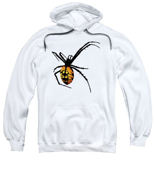 Graphic Spider Black And Yellow Orange Sweatshirt