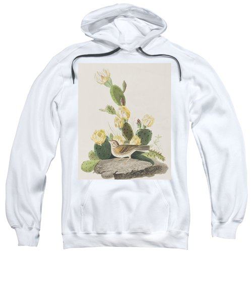 Grass Finch Or Bay Winged Bunting Sweatshirt by John James Audubon