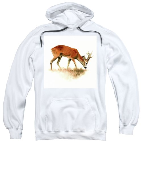 Grazing Roebuck Watercolor Sweatshirt