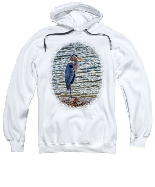 Great Blue Heron Sweatshirt by John M Bailey