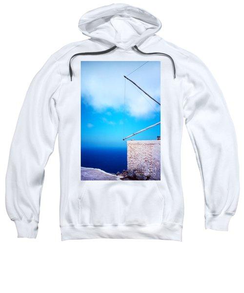 Greek Windmill Sweatshirt by Silvia Ganora