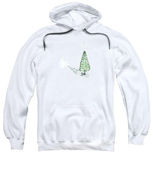 Green Bead Christmas Tree II Sweatshirt