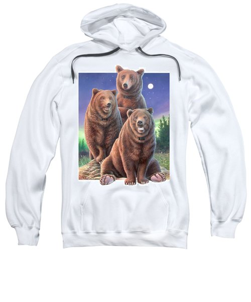 Grizzly Bears In Starry Night Sweatshirt