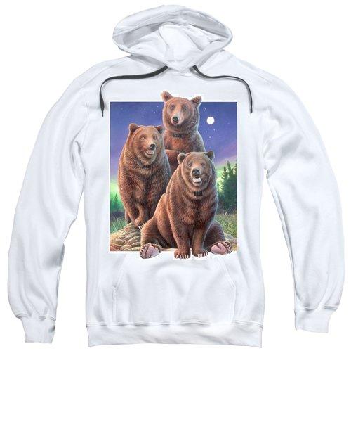 Grizzly Bears In Starry Night Sweatshirt