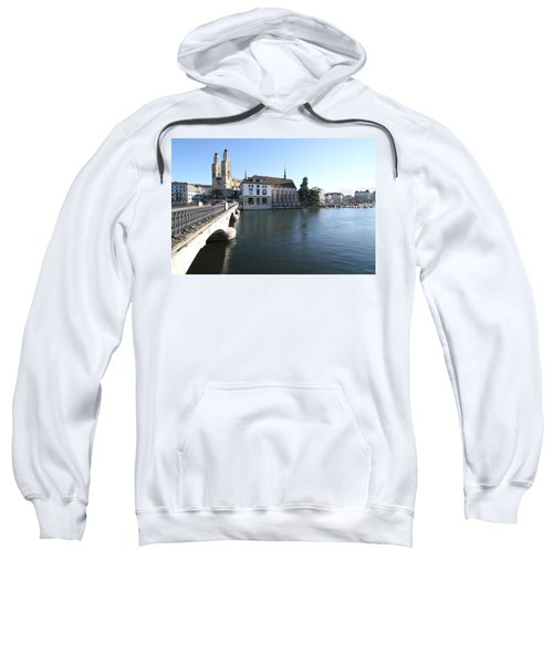 Grossmunster, Wasserkirche And Munsterbrucke - Zurich Sweatshirt
