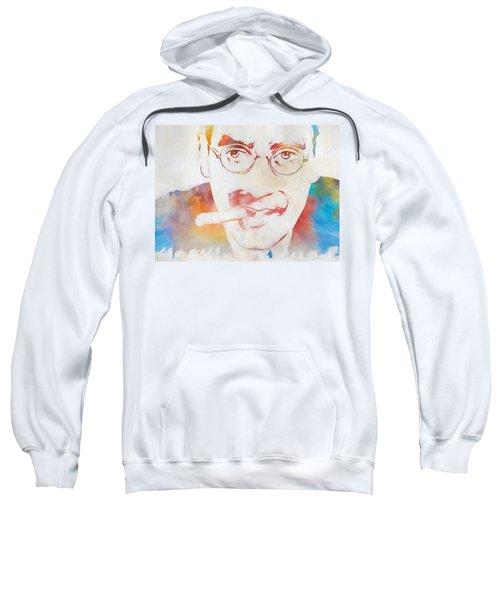Groucho Marx Sweatshirt by Dan Sproul
