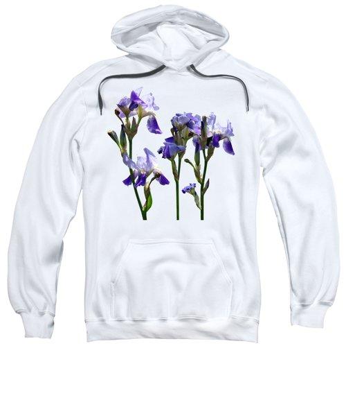 Group Of Purple Irises Sweatshirt by Susan Savad