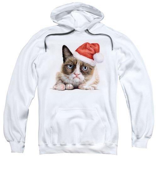 Grumpy Cat As Santa Sweatshirt