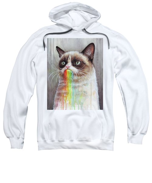 Grumpy Cat Tastes The Rainbow Sweatshirt