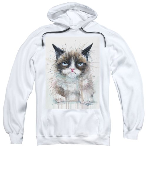 Grumpy Cat Watercolor Painting  Sweatshirt