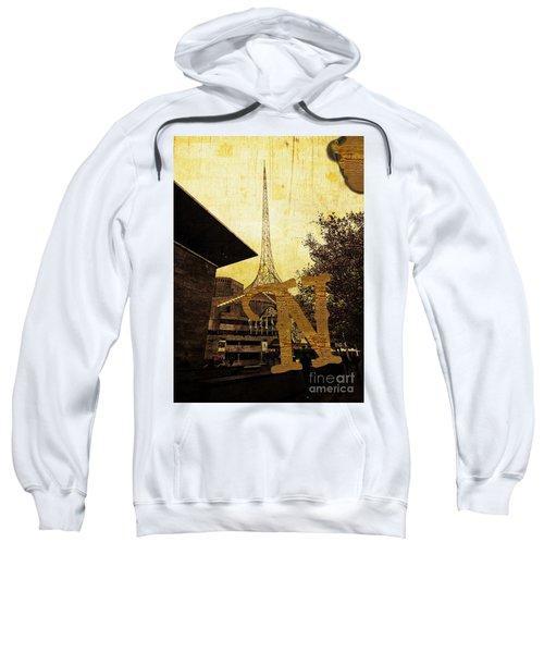 Grungy Melbourne Australia Alphabet Series Letter N National Gal Sweatshirt