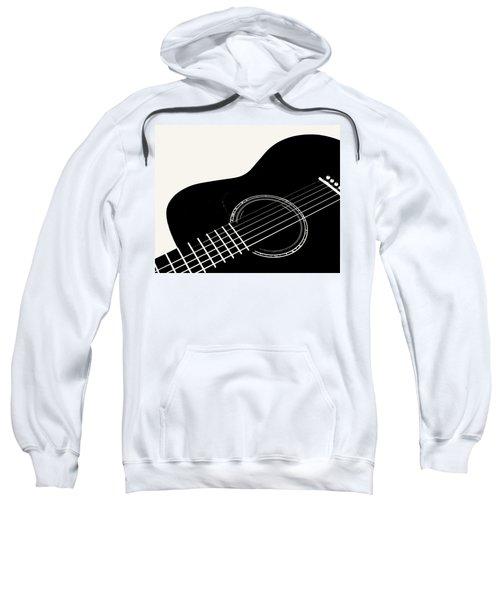 Guitar, Black And White,  Sweatshirt