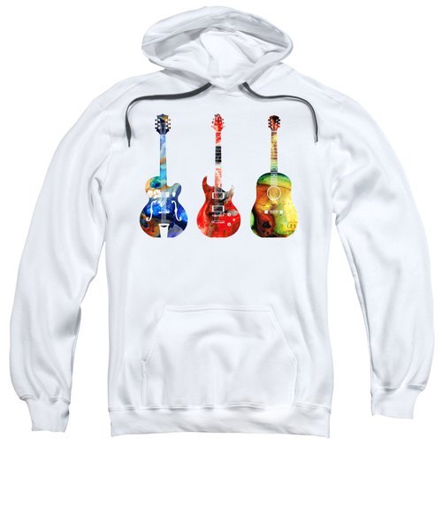 Guitar Threesome - Colorful Guitars By Sharon Cummings Sweatshirt