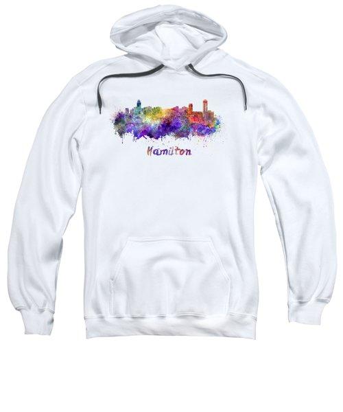 Hamilton Skyline In Watercolor Sweatshirt