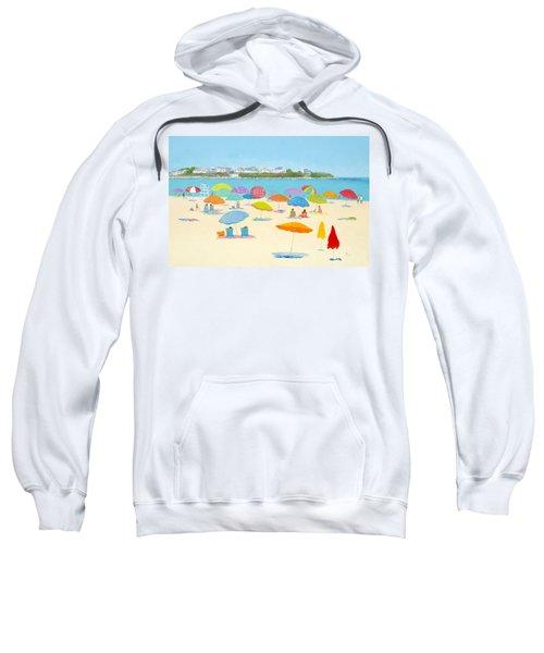 Hampton Beach Umbrellas Sweatshirt