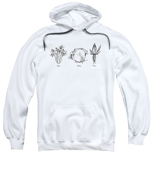 Hand Drawn Of Celery, Cabbage And Chicory Sweatshirt