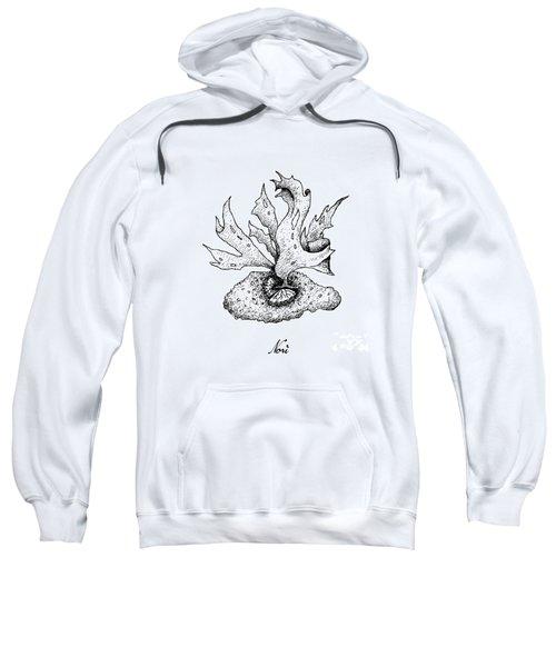 Hand Drawn Of Nori Seaweed On White Background Sweatshirt