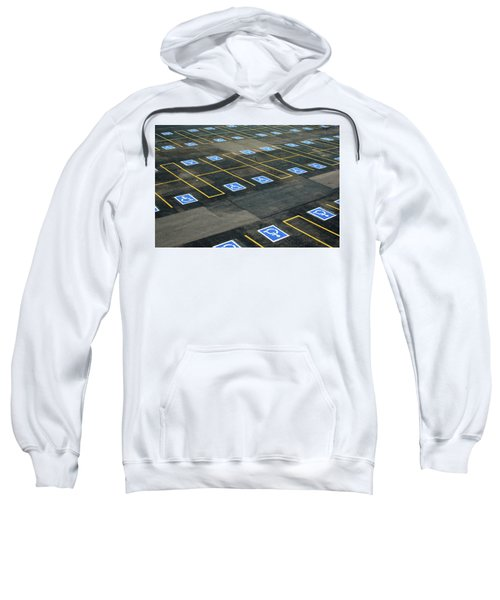 Sweatshirt featuring the photograph Handicap Lot by Stephen Holst