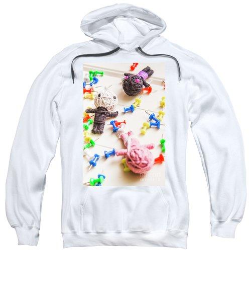 Handmade Knitted Voodoo Dolls With Pins Sweatshirt