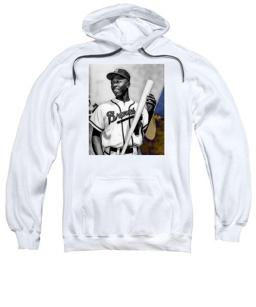 Hank Aaron Sweatshirt by Marvin Blaine