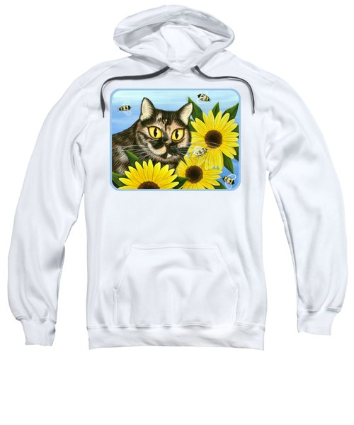 Hannah Tortoiseshell Cat Sunflowers Sweatshirt
