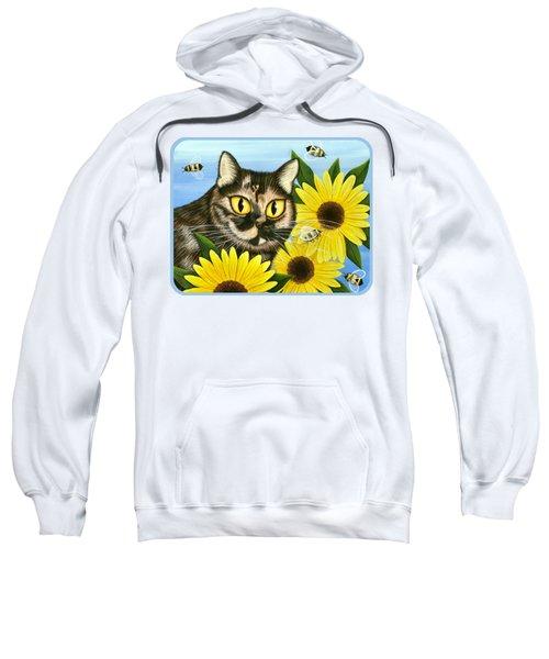 Hannah Tortoiseshell Cat Sunflowers Sweatshirt