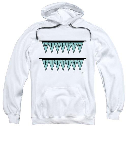 Pennant Deco Blues Sign Happy Birthday Sweatshirt