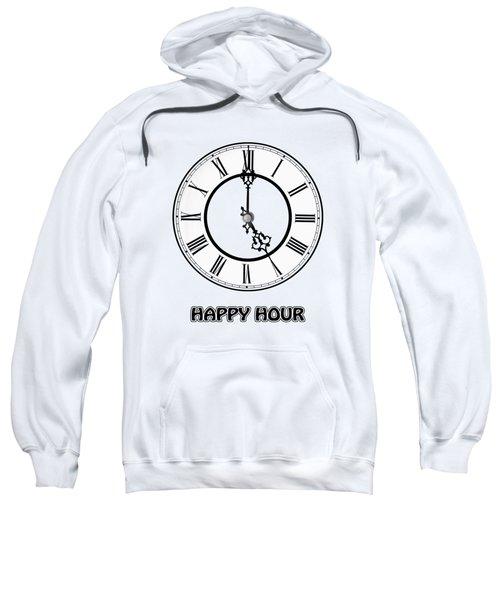 Happy Hour - White And Blue Sweatshirt