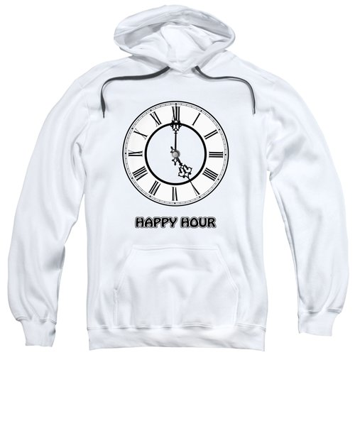 Happy Hour - White And Blue Sweatshirt