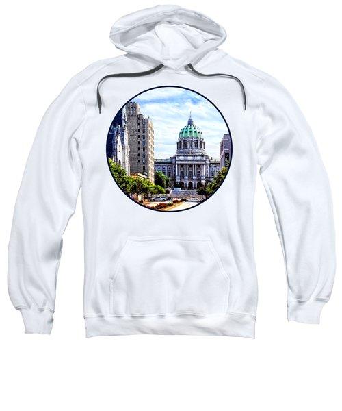 Harrisburg Pa - Capitol Building Seen From State Street Sweatshirt