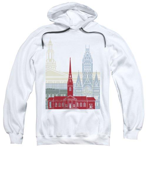 Harvard Skyline Poster Sweatshirt by Pablo Romero