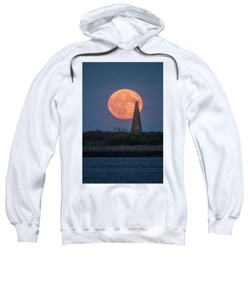 Harvest Moon Over Stage Island, Maine Sweatshirt