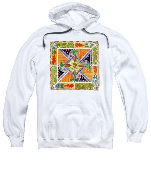 Hawaiian Mandala I - Palm Trees Sweatshirt