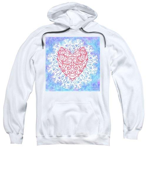 Heart In A Snowflake II Sweatshirt