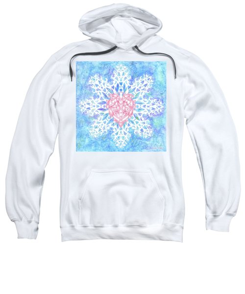 Heart In Snowflake Sweatshirt