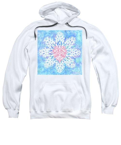 Heart In Snowflake Sweatshirt