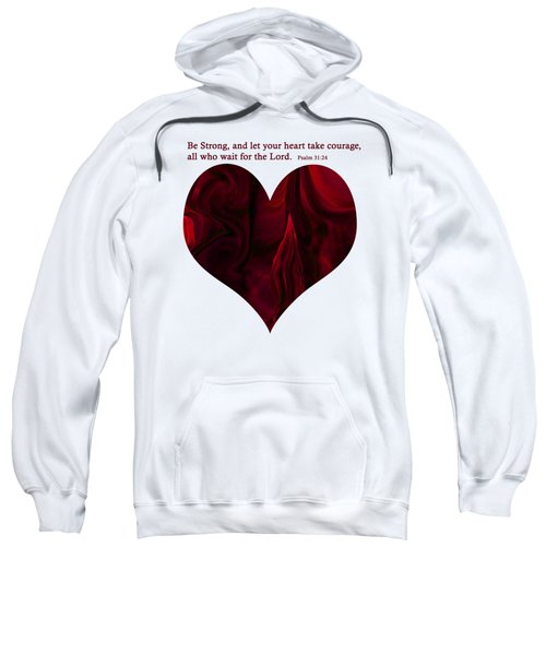 Heart On Fire With Verse Sweatshirt