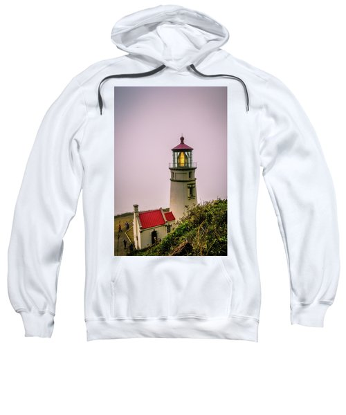 Heceta Head Lighthouse In The Fog Sweatshirt
