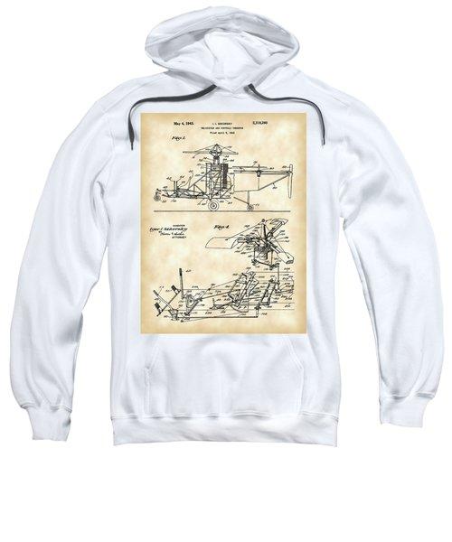 Helicopter Patent 1940 - Vintage Sweatshirt