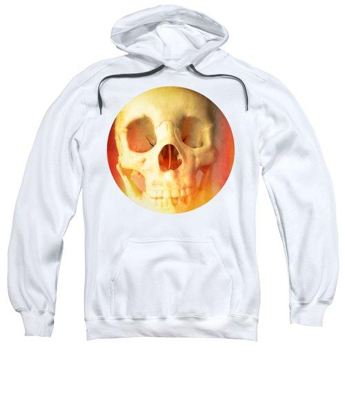 Hell Fire Skull Round Beach Towel Blanket Sweatshirt