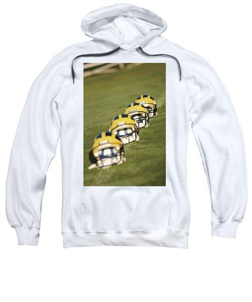 Helmets On Yard Line Sweatshirt