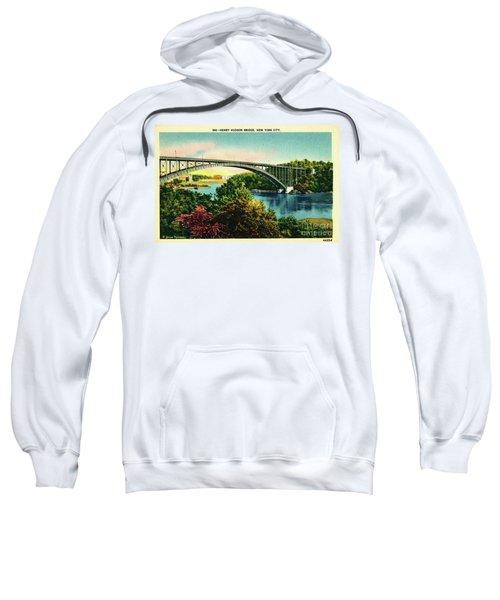Henry Hudson Bridge Postcard Sweatshirt by Cole Thompson